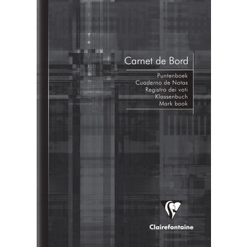 CLAIREFONTAINE Carnet de bord enseignant - Format A5 14.8 x 21 cm - 40 pages - Coloris assortis