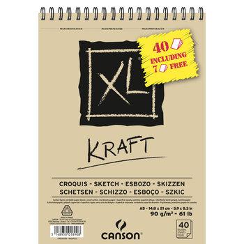 CANSON Album XL Kraft A5 90 gr 40 feuilles dont 7 offertes