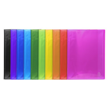 EXACOMPTA Protège-documents en polypropylène semi rigide IDERAMA PP - 30 pochettes,  60 vues - A4 - Couleurs assorties