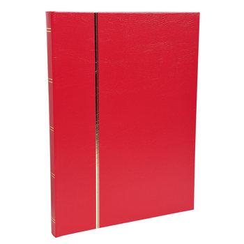 EXACOMPTA Album de timbres simili-cuir 64 pages noires - 22,5x30,5 cm - Rouge