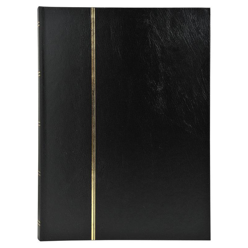 EXACOMPTA Album de timbres simili-cuir 48 pages noires - 22,5x30,5 cm - Noir