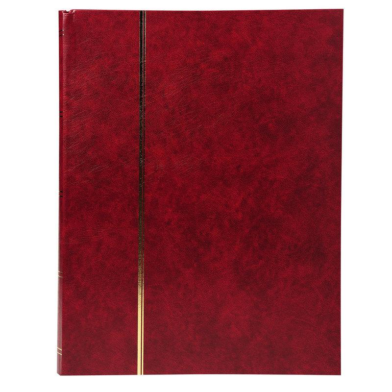 EXACOMPTA Album de timbres simili-cuir 32 pages noires - 22,5x30,5 cm - Rouge