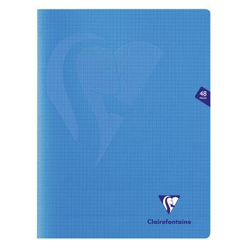 CLAIREFONTAINE Mimesys cahier piqué polypro 24x32cm 48p Q.5x5 coloris assortis