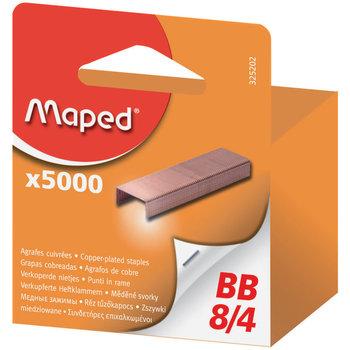 MAPED Boîte de 5 000 agrafes BB 8/4 (acier cuivré) - boîte brochable