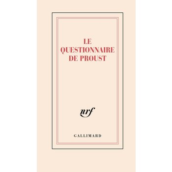 """GALLIMARD Carnet """"LE QUESTIONNAIRE DE PROUST"""""""
