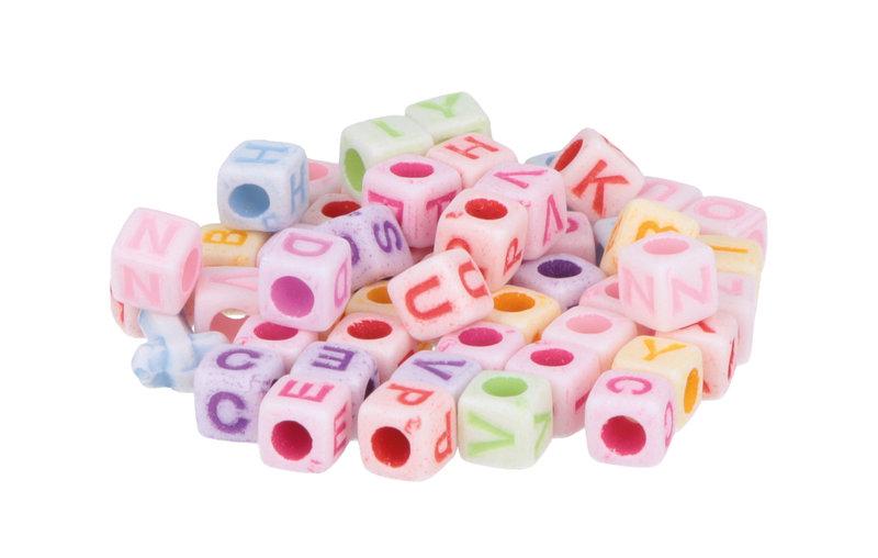 ARTEMIO 300 Perles Alphabet 6X6mm