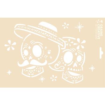 GRAINE CREATIVE Pochoir A4 Sans Sachet - Dia De Los Muertos