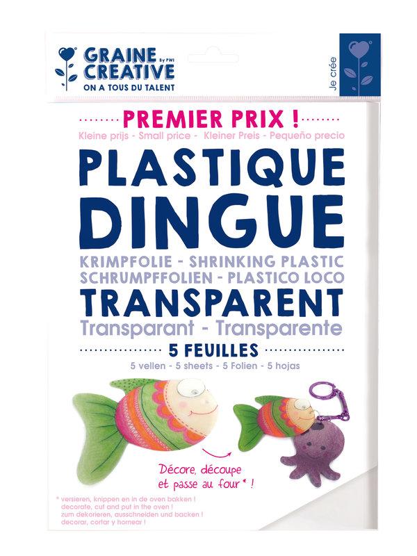 GRAINE CREATIVE 5 Feuilles Plastique Dingue 262X202 Premier Prix