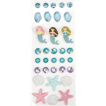 GRAINE CREATIVE Lot Stickers Sirene 26 Pieces 50
