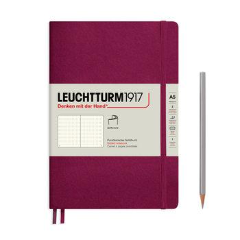 LEUCHTTURM Carnet Port Red, Couverture souple, Medium (A5), 123 p., pointillé