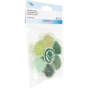 GLOREX Mix de perles 9x10x2cm vert
