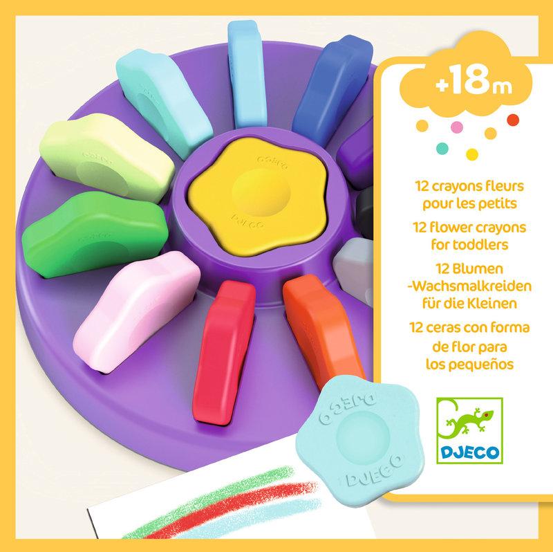 LOVELY PAPER Les couleurs - Pour les petits 12 crayons fleurs