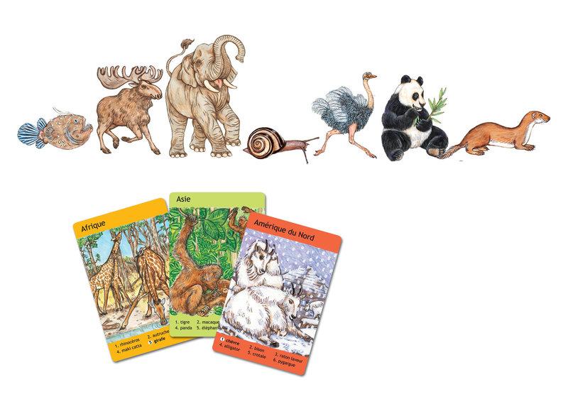 DJECO Jeux de cartes 7 familles - Animaux du monde