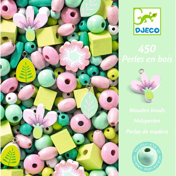 LOVELY PAPER Perles et bijoux Perles bois - Feuilles et fleurs