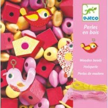 DJECO Perles et bijoux Perles bois - Oiseaux