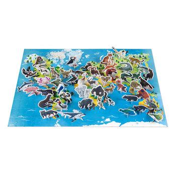 JANOD Puzzle Educatif- Les Animaux Menacés - 200 Pcs