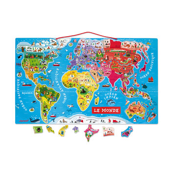 JANOD Puzzle Monde Magnetique Version Francaise