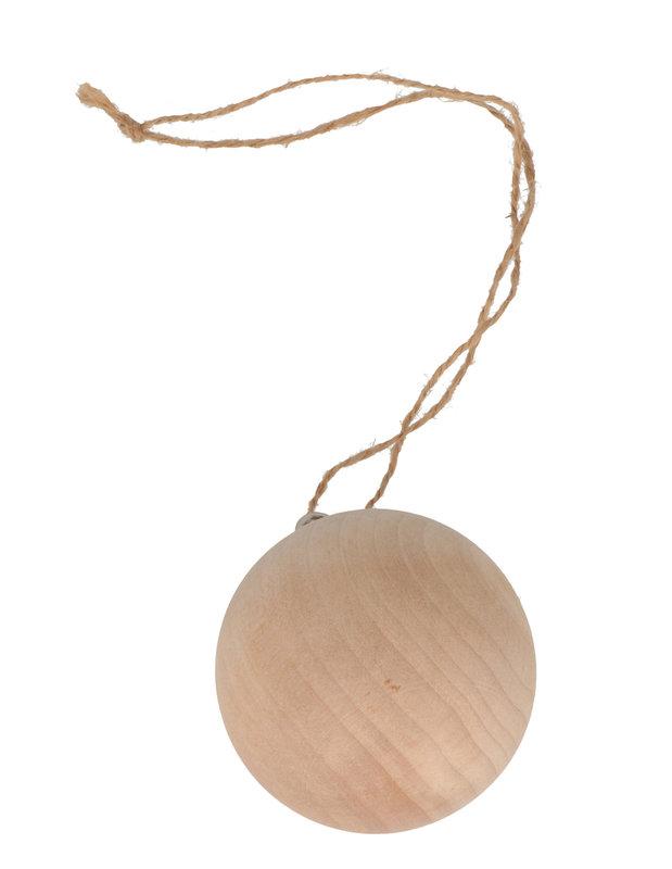 ARTEMIO 2 X Boule Bois 6Cm