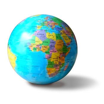 EGG Globe 14cm bleu autorotatif lumineux