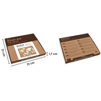 MISS WOOD Woody 3 puzzles map M - White