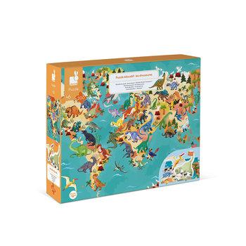 JANOD Puzzle Educatif- Les Dinosaures - 200 Pcs