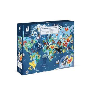 JANOD Puzzle Educatif - Mythes & Legendes - 350 Pcs