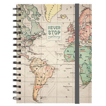LEGAMI Notebook A5 With Spiral - Large - Travel