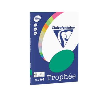 CLAIREFONTAINE Trophée - Papier couleur - A4 (210 x 297 mm) - 160 g/m² - 50 feuilles - vert sapin