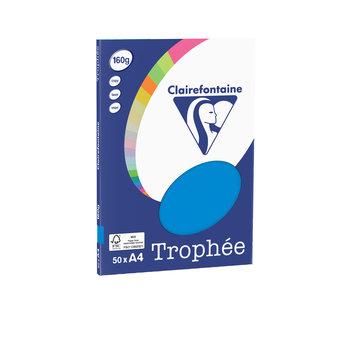 CLAIREFONTAINE Trophée - Papier couleur - A4 (210 x 297 mm) - 160 g/m² - 50 feuilles - bleu turquoise