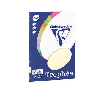 CLAIREFONTAINE Trophée - Papier couleur - A4 (210 x 297 mm) - 160 g/m² - 50 feuilles - ivoire