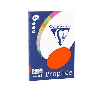 CLAIREFONTAINE Trophée - Papier couleur - A4 (210 x 297 mm) - 160 g/m² - 50 feuilles - cardinal