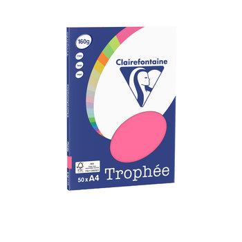 CLAIREFONTAINE Trophée - Papier couleur - A4 (210 x 297 mm) - 160 g/m² - 50 feuilles - fuchsia
