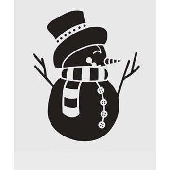 ALADINE Pochoir Noël bonhomme de neige 28x28cm