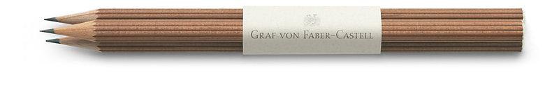 FABER CASTELL 3 crayons en banderole, bout trempé, cèdre naturel