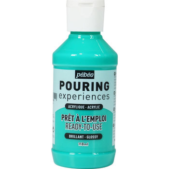 PEBEO Pouring Experiences Flacon 118 ml Vert d'eau