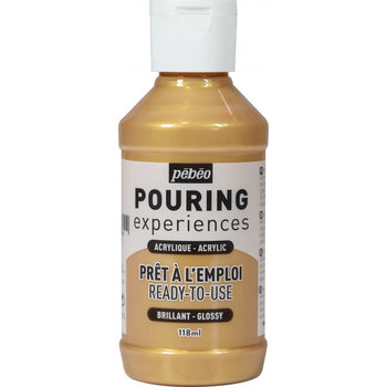 PEBEO Pouring Experiences Flacon 118ml Or métallique