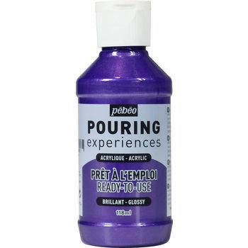 PEBEO Pouring Experiences Flacon 118ml Violet métallique