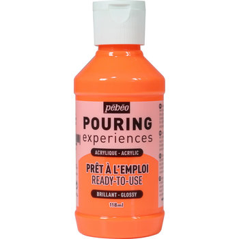 PEBEO Pouring Experiences Flacon 118ml Orange fluorescent
