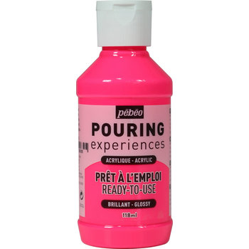 PEBEO Pouring Experiences Flacon 118ml Rose fluorescent
