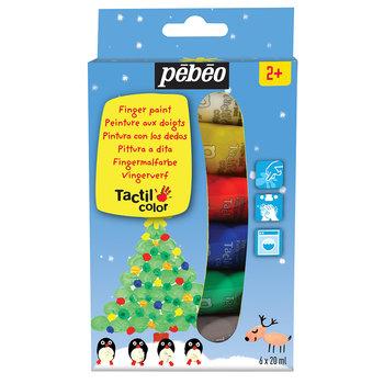 PEBEO Set découverte tacticolor Noël 6x20ml rouge, vert,argent,or,bleu,blanc