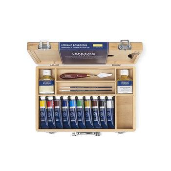LEFRANC BOURGEOIS Coffret Peinture à l'Huile Fine 10X40Ml Coffret Couleurs Assorties