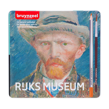 """BRUYNZEEL Crayon aquarelle """"Rijks museum"""" 24 pièces + pinceau BRUYNZEEL - Van Gogh"""