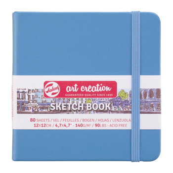 TALENSARTCREATION Sketchbook Pastel 12x12cm 140g 80 feuilles bleu lac
