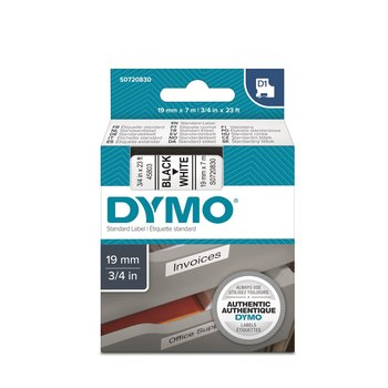 DYMO RUBAN D1 19mm x 7mm - noir sur blanc