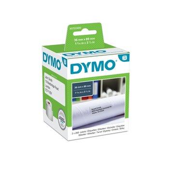 DYMO Etiquettes d'adresse DYMO LabelWriter LW 36 x 89 mm Blanc - 2 Rouleaux de 260 Étiquettes