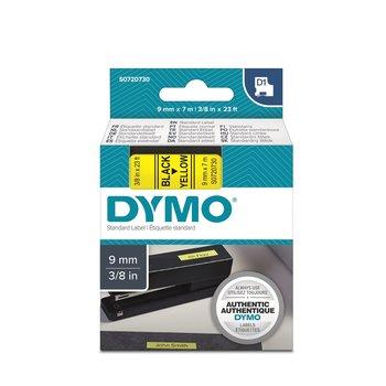 DYMO RUBAN D1 9mm x 7m - Noir sur Jaune
