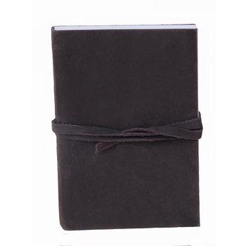 SUPPLEMENT D'A.M ROADSTER carnet cuir nubuck 9 x 13 cm pages intérieures blanches