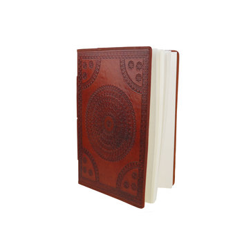 SUPPLEMENT D'A.M AUTHENTICS carnet cuir 16x24 cm parchemin Camel