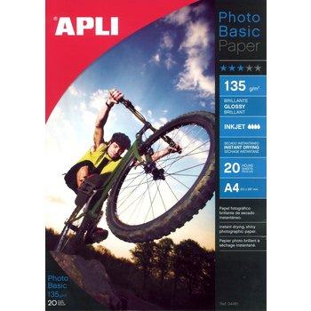 APLI Papier photo Photobasic A4 135 g 20 feuilles