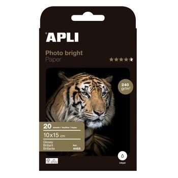 APLI Papier photo Photobright 10 x 15 cm 240 g 20 feuilles